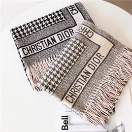 розовое кашемировое пончо Скидка Высококачественный женский шерстяной шарф платок моды повседневная кисточка алфавит плед стиль дизайна осенью и зимой теплый шарф бренда