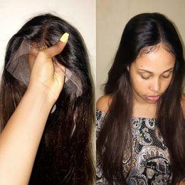2019 бразильские человеческие волосы афро Полный парик шнурка человеческих волос с волосами младенца бразильские прямые волосы реми парик шнурка для афро-американской бесплатная доставка дешево бразильские человеческие волосы афро