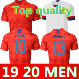 soccer jerseys united states Promo Codes - 19 20 USA PULISIC Soccer Jersey 2019 DEMPSEY BRADLEY ALTIDORE WOOD America Football jerseys United States Shirt Camisetas Thai quality