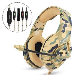 xbox stereo headphones Coupons - Gaming Headset Phone Eating Chicken Racing Headset PS4 Xbox one K1-B Camouflage Over the ear Headphones