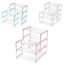 amerikanisches möbel schlafzimmer Rabatt Schuhregal Mehrschicht-Metallmontage Schuhregal Ablagefach Nachlass 2