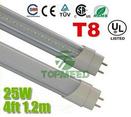 4 tubi di luce led t8 25w Sconti CE RoHS UL 1.2m 4ft T8 25W Ha condotto la luce della metropolitana 120 LED 2700lm ha condotto l'illuminazione Sostituisce la lampada del tubo fluorescente + Garanzia 3 anni X100