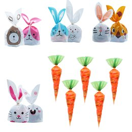 UK 20pcs DIY Easter Cone Carrot Sweets Flower Cellaphane Bags Party Favour Gift