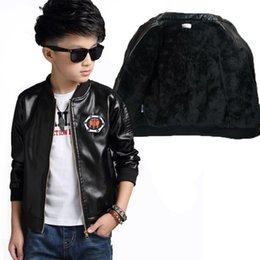 2019 летние мальчики  Fashion Winter Child Coat Waterproof Heavyweight Baby Boys Leather Jackets Children Outfits For Age 2-12 Years Old дешево летние мальчики