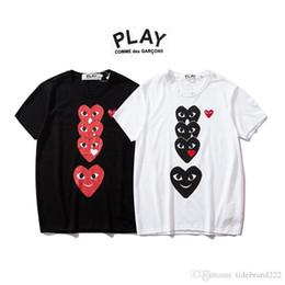 JUGAR Yu Kawakubo 2019 Diseñador de moda T Shirt Pareja modelos manga corta ropa amor expresiones faciales desde fabricantes