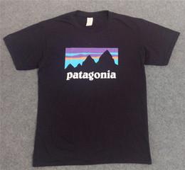 juegos de chica americana Rebajas Cutton Crew Neck Camisetas Landscape Print PATAGONIA Mens Skateboard Camisetas Moda Marca Mujeres Casual Camisetas Tops Amantes Ropa