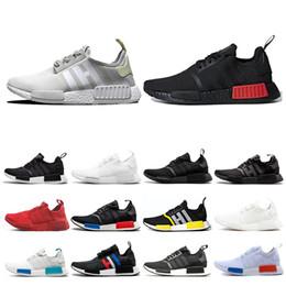 Tamanhos de calçados japão on-line-Adidas nmd R1 homens tênis produzidos Japão triplo branco preto Og creme Oreo camo mens formadores mulheres esporte tênis tamanho 36-45