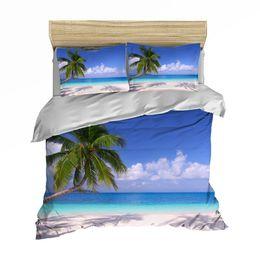 edredons de verão Desconto MUSOLEI 3D Capa de Edredão Set verão férias árvores de coco ondas starfish spray Cacto Maple Folha de Cama Gêmeo rainha rei
