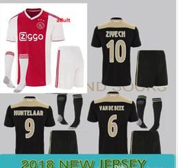f0c0384fa393b Maillot de soccer Ajax 2018-19 Ensemble pour adulte Ajax FC + Chaussettes maillots  KITS 18-19 Uniforme de football sur mesure KLAASSEN SET COMPLET AVEC DES ...
