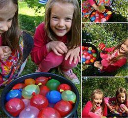 2019 111 globos 111 unids / lote globos de burbujas de agua mágica llena de agua Ballon inyección rápida niños juguetes de playa al aire libre para niños Bunch agua Sprinking Gam 111 globos baratos