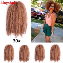 """Extensiones de cabello rizado sintético y resistente al calor. online-Marley Braid Hair 18 """"Black Burgundy Brown Grey Blonde Resistente al calor Afro sintético Extensiones de cabello rizado rizado"""