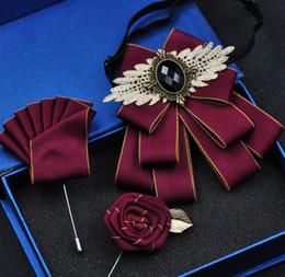 Pajarita británica online-Envío gratis Nueva moda masculina hombre hecho a mano Corto estilo británico corbata de lazo conjunto formal de negocios de la boda de Corea novio