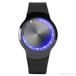 Creative LED Лампа Дисплей Мужчины Цифровые Наручные Часы Инструкции Из Нержавеющей Стали Сенсорный Экран Спортивный Стиль Резиновый Ремешок Подарок от
