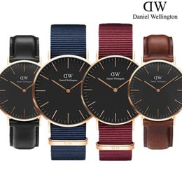 multicolor watches Coupons - Daniel Wellington dw watch new 40mm men's men's sports and leisure watch women's 36mm fashion quartz watch waterproof leather blue nylon bel