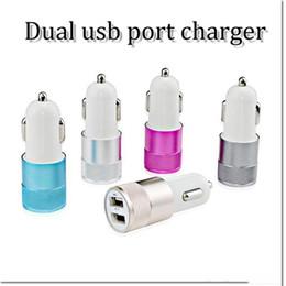 4s ladegeräte Rabatt Mini-USB-Auto-Ladegerät Universal-Doppel-USB-Adapter-buntes Auto-Ladegerät für Handy iPhone 4 4s 5 5s 5c 6 Samsung S3 s4 s5 DHL-freies Verschiffen