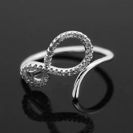 plaques d'immatriculation de mariage Promotion numéro de torsion 8 diamants bague pour femmes luxe diamant cristal anneaux s925 argent plaqué cuivre zircons bijoux cadeau pour mariage Memorial Day