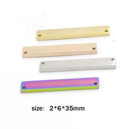 Nombre de la barra personalizada colgante de acero en blanco Retangle placa 14 K oro grabado accesorios de la joyería DIY collar desde fabricantes