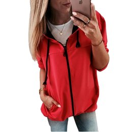 98ce362703 Spring Long Sleeve Coats And Jackets Women 2019 Fashion Casual Zipper  Pockets Streetwear Veste Femme Loose Hooded Abrigo Mujer veste femme  fashion for sale