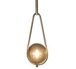 lampade da bar rustiche Sconti Nordic moderne luci a sospensione Designer Glass Pendant Light lampade decorazione di arte Lampadario Lampade per Bar Sala da pranzo Dropshopping LLFA