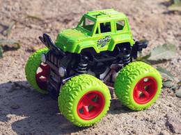 bus jouet vert Promotion Quatre roues motrices inertie cascadeur buggy cadeau jouet simulation enfants modèle de voiture résistant cascadeur cascadeur voiture