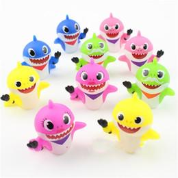 Fate di giocattoli per bambini online-10 Pz Lotto Baby Shark Spremere Giocattoli Fata Cute Cartoon Regalo Per I Bambini Ornamento Blu Bambini Rifornimento Del Partito 12xzcb1