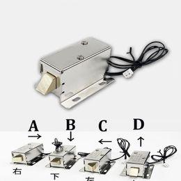 Mini bloqueo electrónico online-Nuevo DC12V gabinetes de almacenamiento electromagnético pequeño cerradura electrónica mini perno de cerradura de cerrojo cajón archivador cerradura