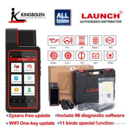 trasporto libero di vci Sconti LANCIO X431 Diagun IV Supporto completo dello strumento di diagnostica del sistema automatico Bluetooth / Wifi con 2 anni di aggiornamento gratuito Nessun IP limitato meglio di diagun iii