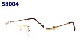 Moda Uomo Clear Occhiali senza montatura Cornice oro argento Occhiali da vista Donne Oculos De Grau Occhiali da lettura graduati Oculos da