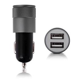 Kleinste iphone ladegerät online-Autoaufladeeinheit Doppel-USB-Auto-Aufladeeinheit MetallHandyaufladeeinheit Universal 2.1V kleines Stahlfaß Auto pohne für iphone x xiaomin