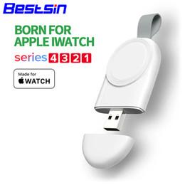 2019 зарядное устройство для интеллектуальных часов Smart Watch Mini Портативное беспроводное зарядное устройство для iWatch 1 2 3 4 Адаптер док-станции Быстрая зарядка Зарядное устройство Беспроводная зарядная база дешево зарядное устройство для интеллектуальных часов
