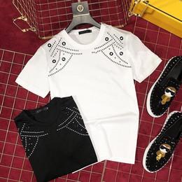 camiseta oem Rebajas tendencia salvaje primavera y verano fábrica OEM exquisita línea de coche patrón de manga corta camiseta