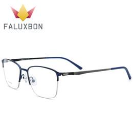 Occhiali da vista da uomo in titanio con montatura in montatura da vista Occhiali da vista da uomo montatura per occhiali da vista con montatura rettangolare in miopia da