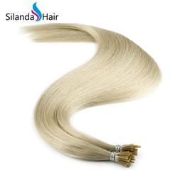 Silanda Saç Açık Gri Düz Gümrük Remy Saç Uzantıları Ben Ucu Sopa Ucu İnsan Saç Uzatma 1 g / s 50 ipliklerini / paket Ücretsiz Kargo cheap stick tipped human hair extensions nereden sivri uçlu insan saç uzantıları tedarikçiler