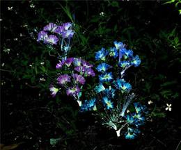 decorazioni per esterni del patio Sconti Luci del giardino solare esterna LED decorativi fiori solari luci a palo per giardino cortile patio percorso decorazione colore cambiare all'ingrosso