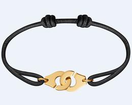 Gold handcuff bracelets online-Frankreich Berühmte Marke Schmuck Dinh Van Armband Für Frauen Modeschmuck 925 Sterling Silber Seil Handschellen Armband Menottes