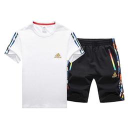 Новый мужской Свободный Спорт с короткими рукавами костюм стиль воздухопроницаемый досуг мода горячий продавать бесплатно почтовые размер от L до 5XL, много цветов от