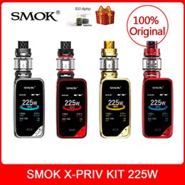 Kit de arranque original SMOK X-Priv 225W con V12 Prince Tank 8ml caja mod vape kit Cigarrillo electrónico y equipo de cig E-cigarrillo Dhl desde fabricantes