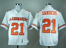 aeec5936b Cheap custom Oklahoma State Barry Sanders 21 White College Football Jersey  Stitched Customize any number name MEN WOMEN YOUTH XS-5XL
