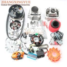 ventiladores de arrefecimento Desconto Scooter 61 milímetros NON Egr cabeça de cilindro Kit Big Bore AC CDI fã bobina de ignição para GY6 125cc 150cc atualizar 180cc 152QMI 157QMJ 4T