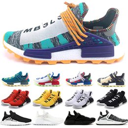f62a34352e8e0 Hu NMD Human Race Boost Trail Men Women Running Shoes Solar Pack Pharrell  Williams Yellow Black White Red Sport Sneaker Free Shipping human race  sneakers ...