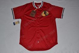 2019 camisola de basebol de flanela Personalizado Mitchell Ness CHICAGO BLACKHAWKS Malha Botão Frente JERSEY Costurado jersey XS-5XL
