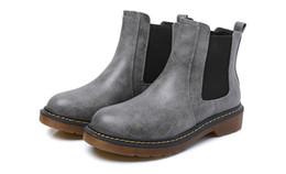 comodi stivali in pelle piatta Sconti Stivali da donna Martin esterni Moda scarpe comode Scarpe da donna in pelle Oxford British Martin Scarpe da cucire Solid Flat Flat Boots