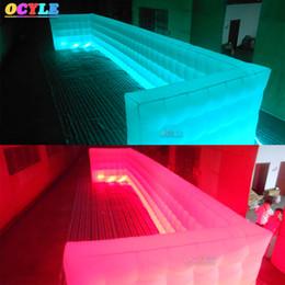 Precios de iluminación de oficina online-Pared de iluminación inflable CALIENTE Precio de fábrica modificado para requisitos particulares que enciende la pared inflable del cubo, oficina móvil inflable