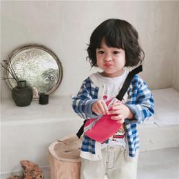 2019 ropa de otoño para niños Autumn Baby Girls Sweater Ropa para niños Punto Cardigan Sweater Niños Primavera Use New Plaid rebajas ropa de otoño para niños