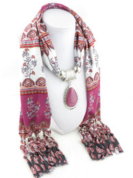 2019 encantos cuadrados de tela Diseño Gotas de agua Colgante joyas bufanda mujeres accesorios collar de joyería Anillo Bufandas