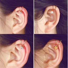 ffe21084a SexeMara 1Pc New Fashion Silver Gold Ear Cuff Earrings for Women Non  Piercing Cartilage Ear Clip Charm Jewelry Women Girl Gift