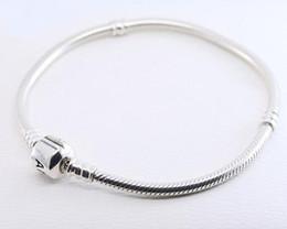 2019 shamballa liebe armband Großhandel 925 Sterling Silber Armbänder 3mm Schlangenkette Fit Pandora Charm Bead Armreif Armband DIY Schmuck Geschenk für Männer Frauen