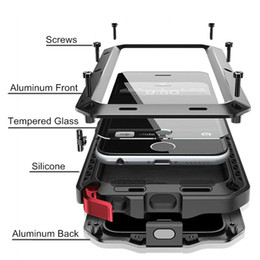 aluminium iphone 5s fälle Rabatt Hochleistungsschutzfall für iphone 7 6 6s plus 5 5s se abdeckung metall aluminium stoßfest rüstung phone cases + glas bildschirm film c19041301