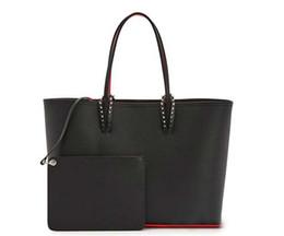 bolsos de cuero rojo del diseñador Rebajas Christin Loubtin bolsos de diseño rojo inferior de calidad superior de moda bolso compuesto mujer diseñador monedero de cuero genuino bolsas