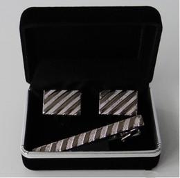 Scatola regalo dei gemelli online-Vendita calda promozione all'ingrosso scatola di gemelli di velluto nero migliore scatola di gioielli regalo per gemelli Epacket gratuito